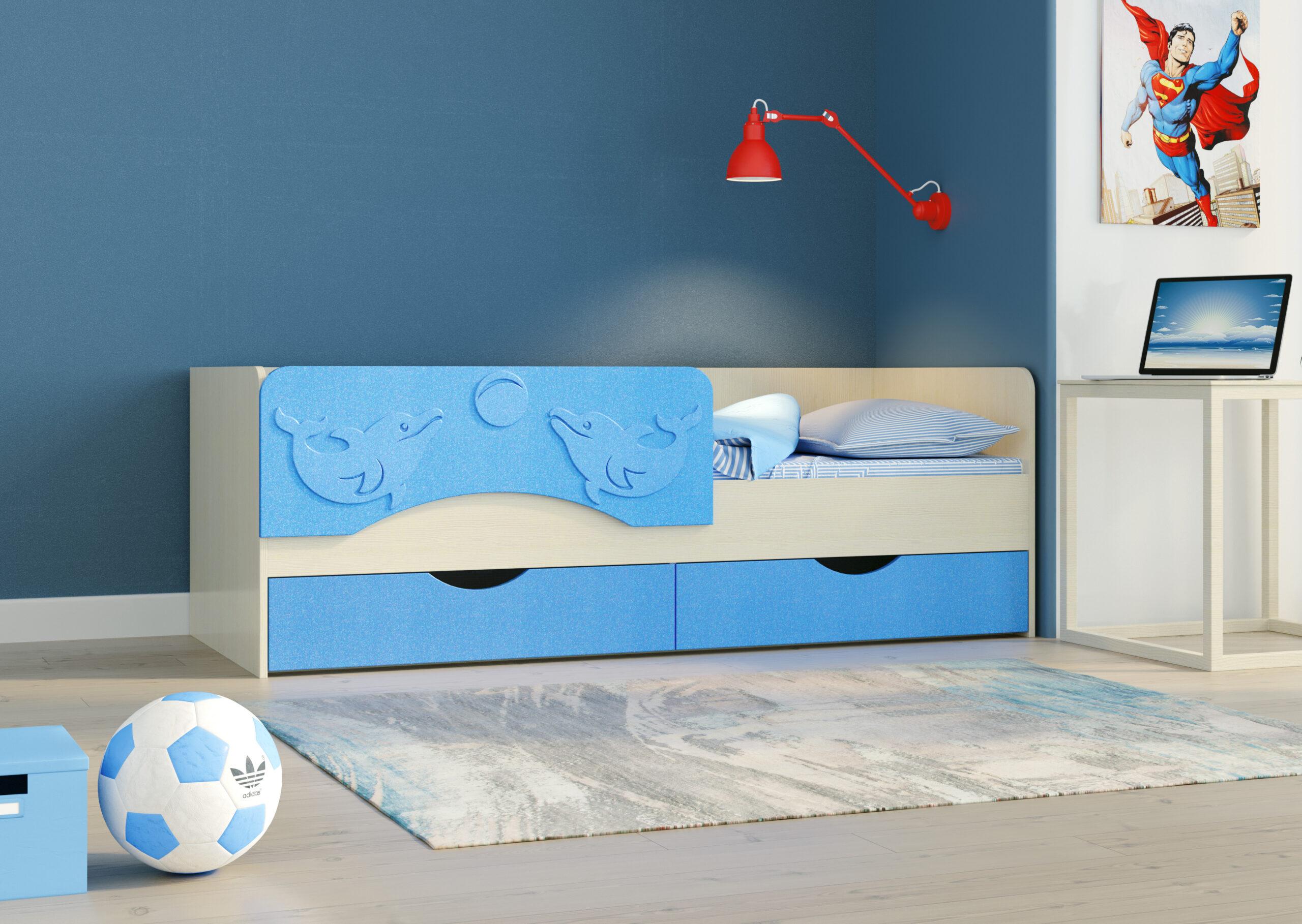Кровать одинарная Дельфин-2