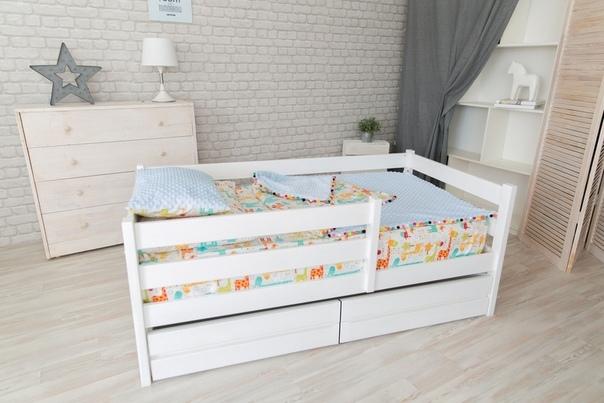 Кровать манеж массив с ящ.