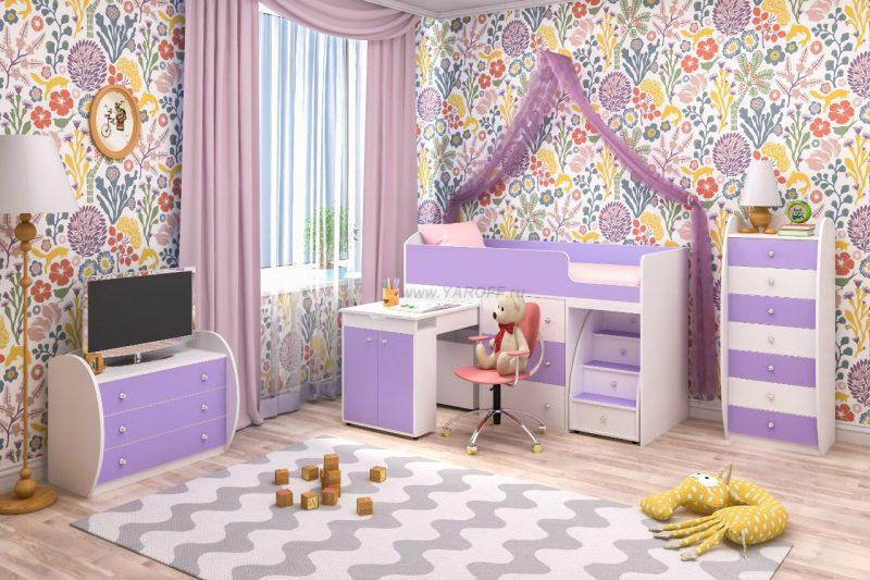 Кровать-чердак «Малыш» 1600