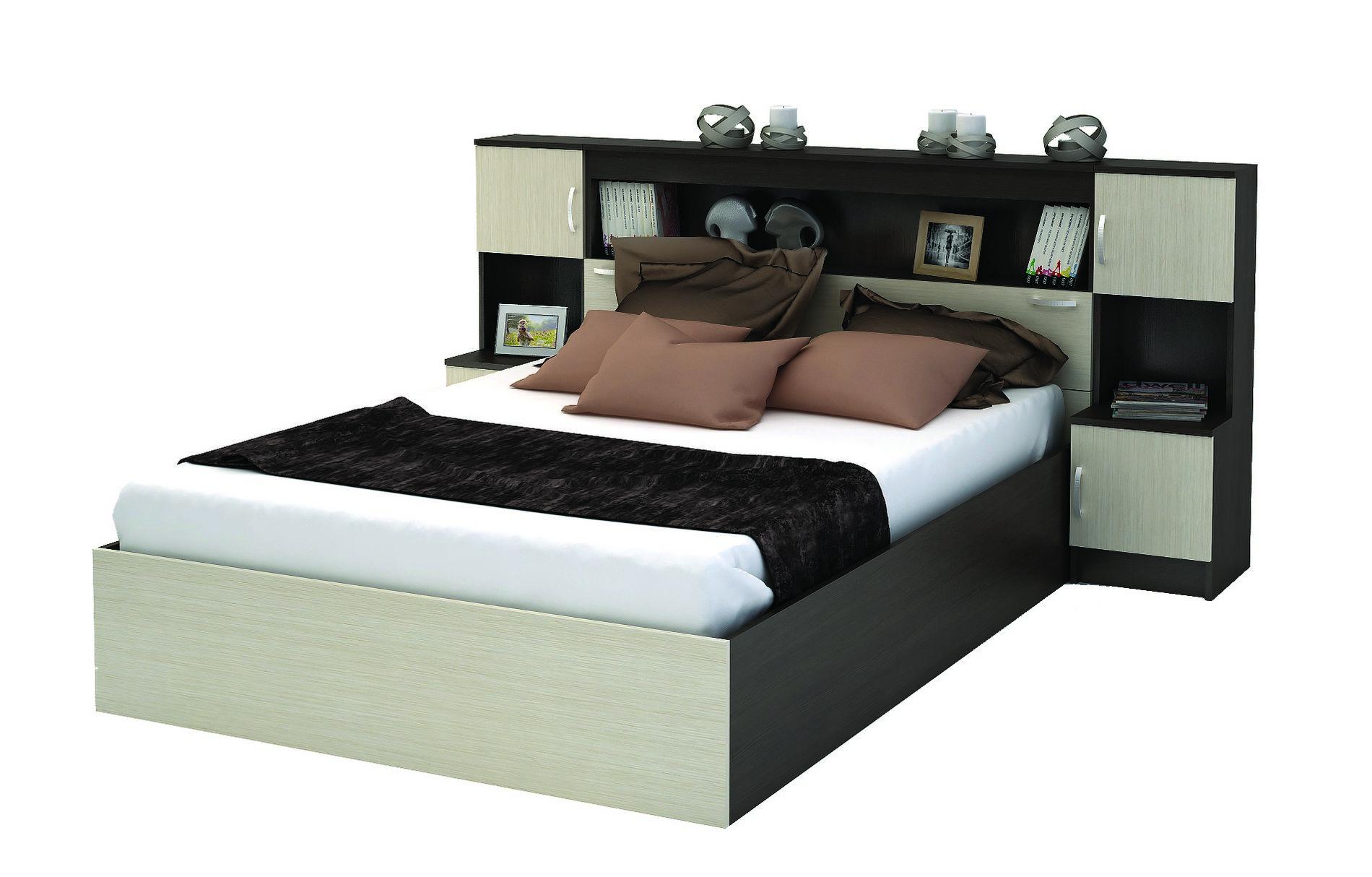 Кровать с прикроватным блоком Бася