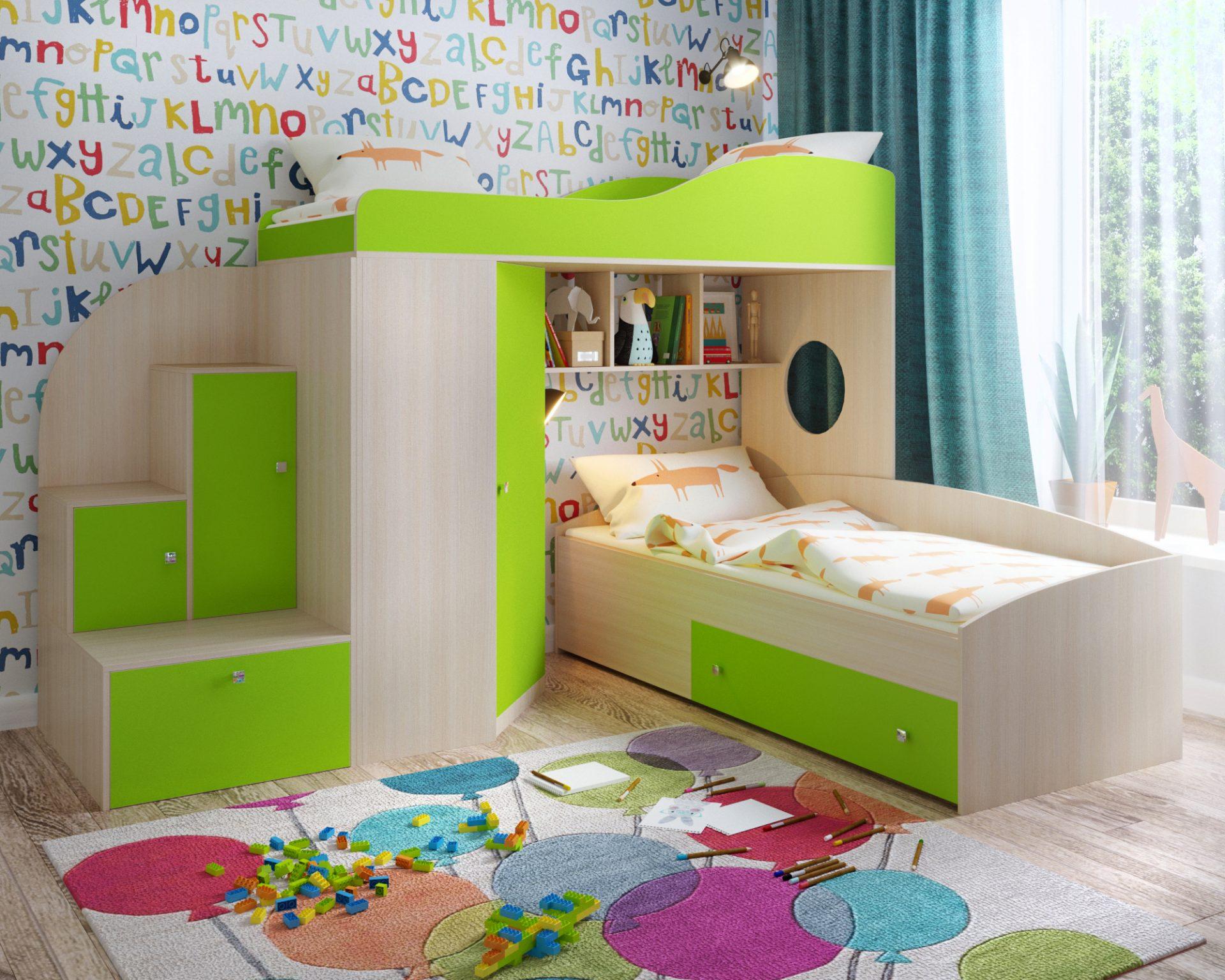 Кровать-чердак «Кадет-2»