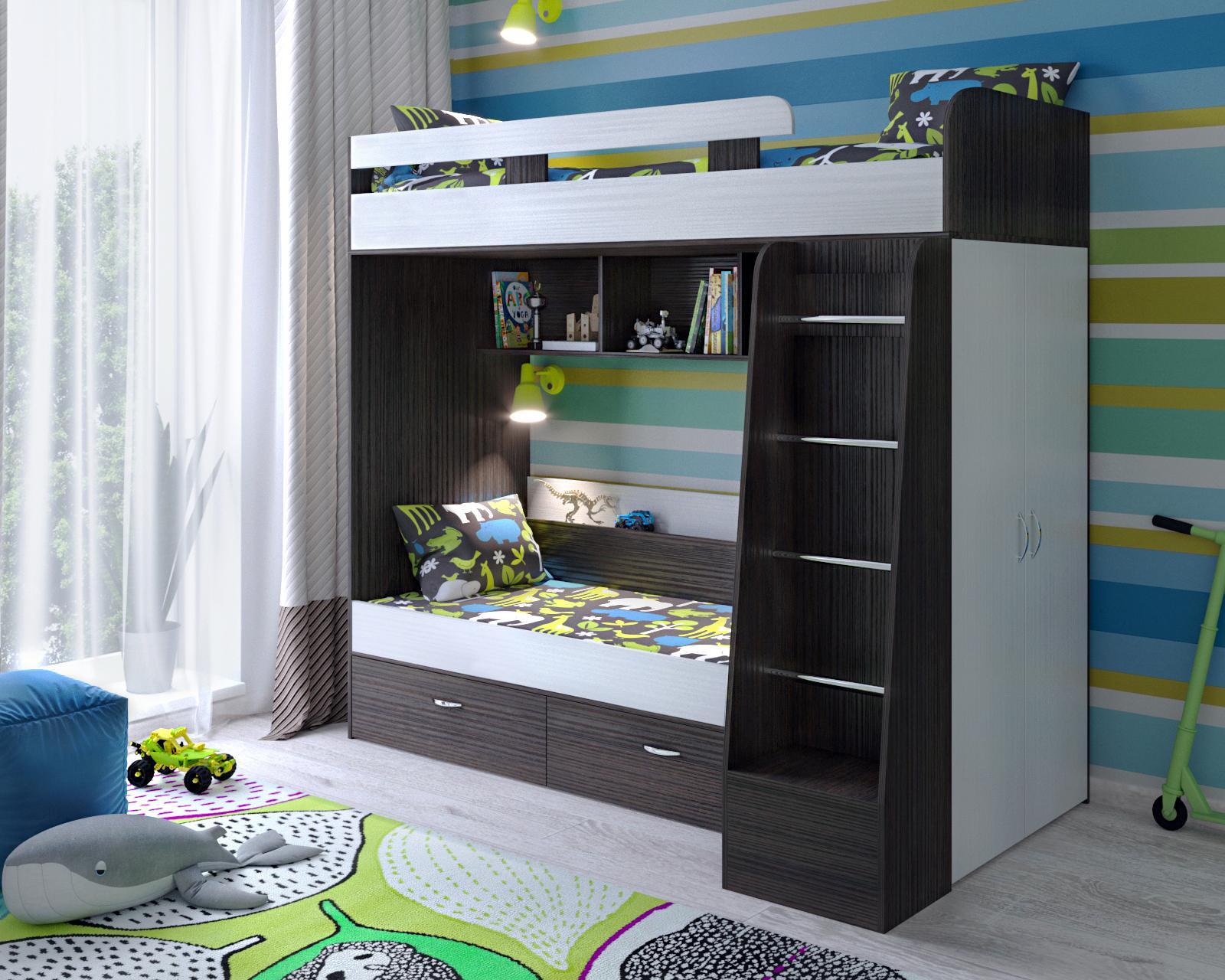 Кровать двухъярусная Юниор 6
