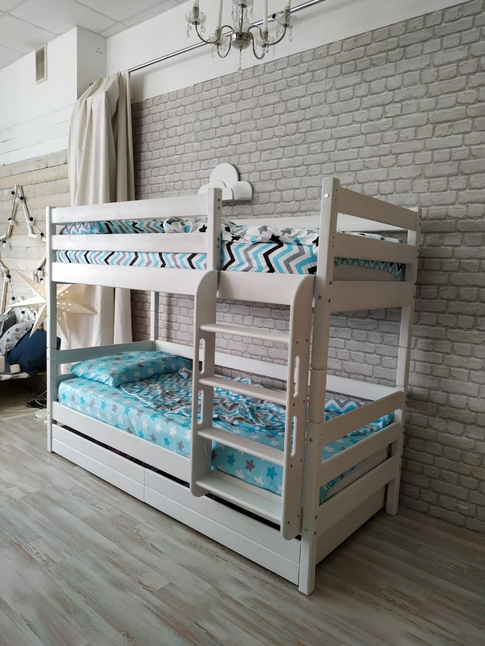 Кровать двухъярусная-трансформер массив